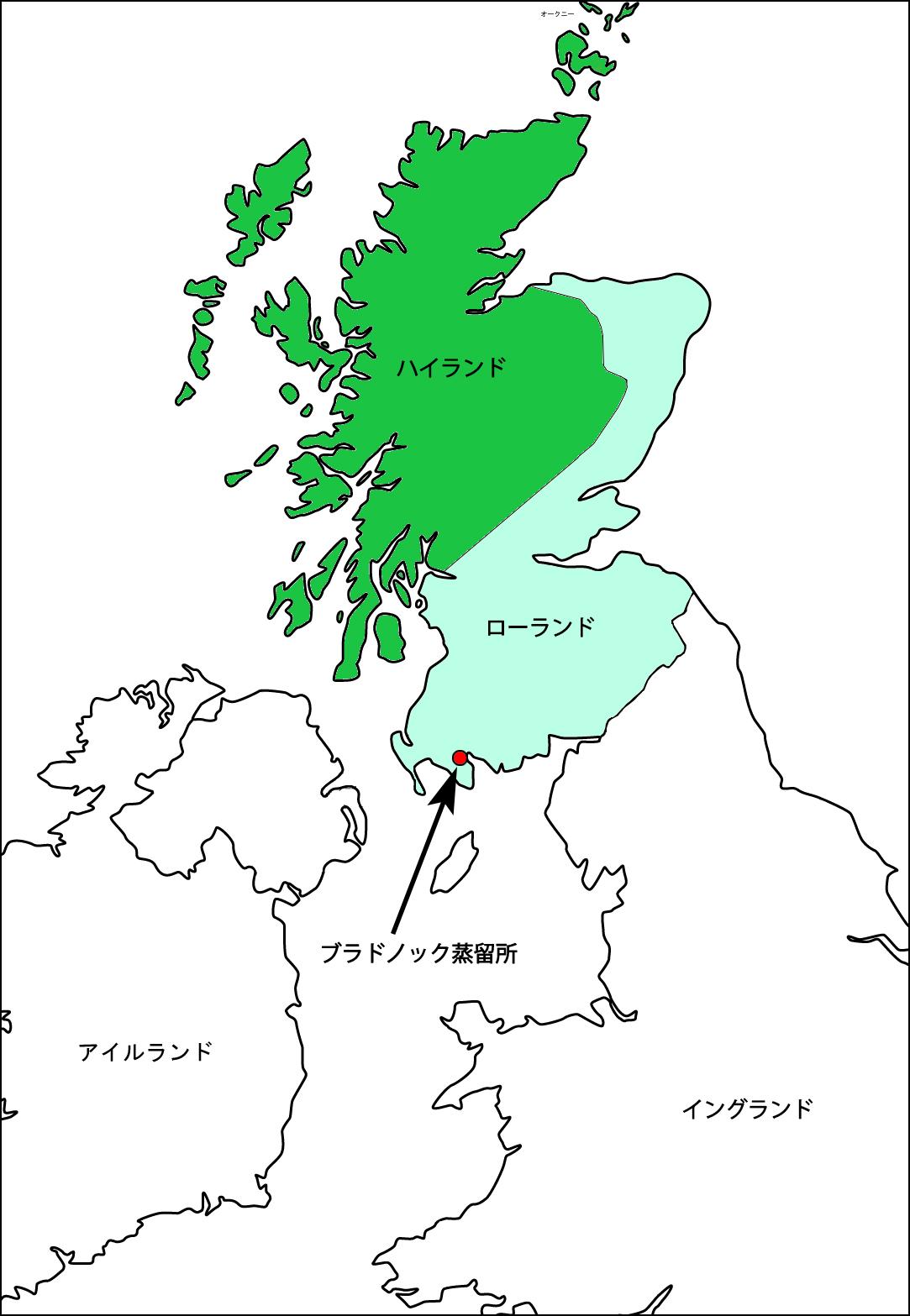 スコットランド 地図