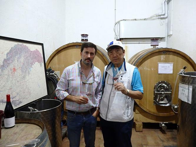 樽発酵中のワイン